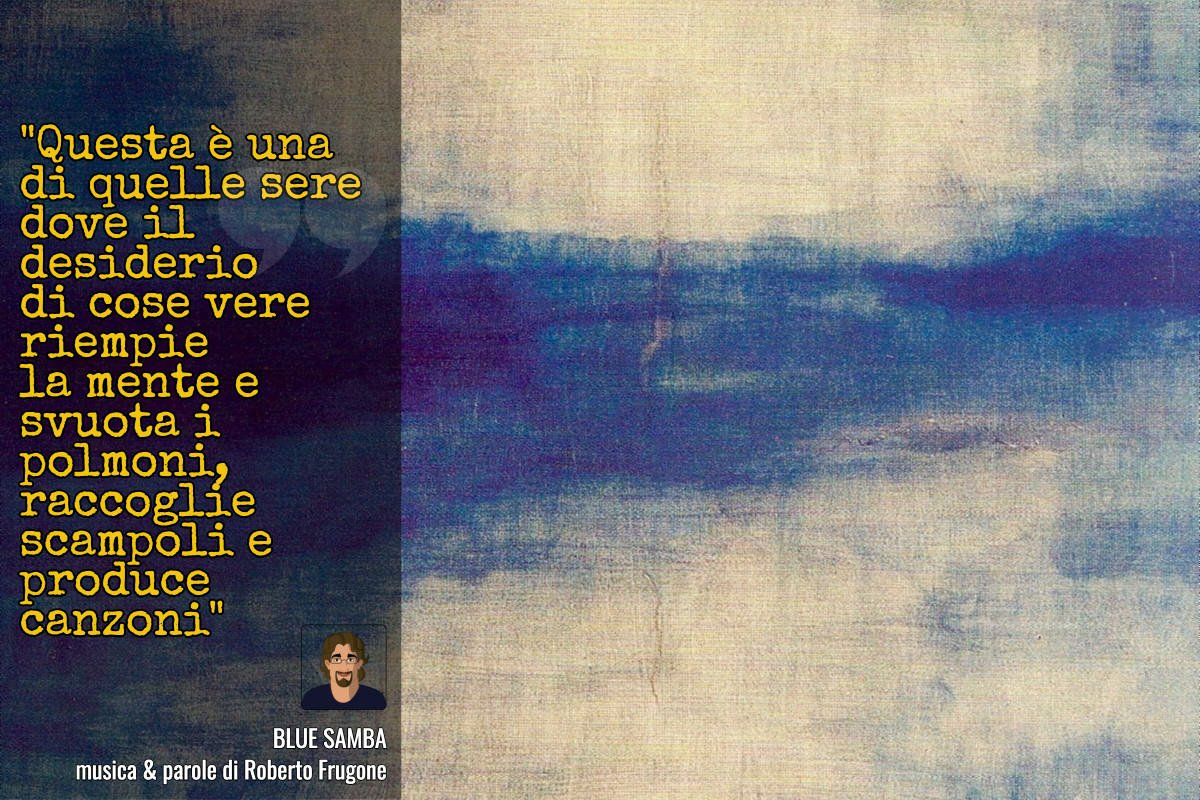 Copertina Roberto Frugone - Blue samba