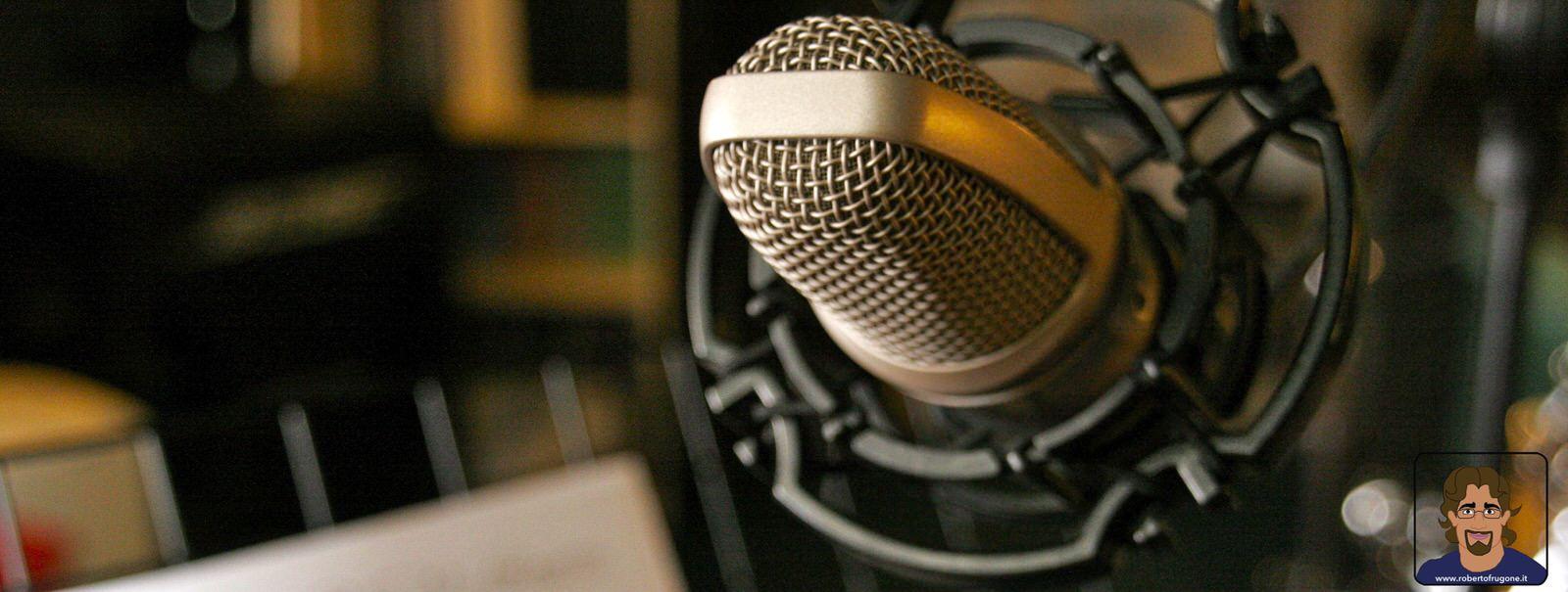 Totem Studio Sala Prove Musicali Casarza Ligure microfono AKG C3000 – foto Lamberto Salvan