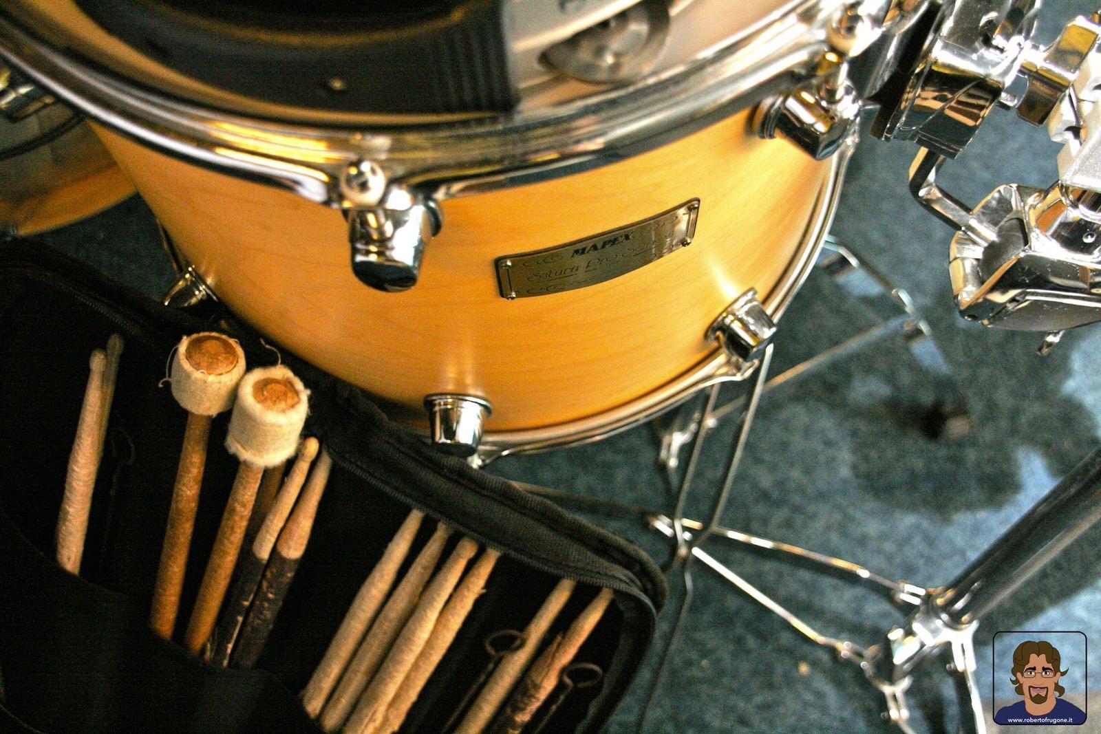 Totem Studio Sala Prove Musicali Casarza Ligure tamburo batteria – foto Lamberto Salvan