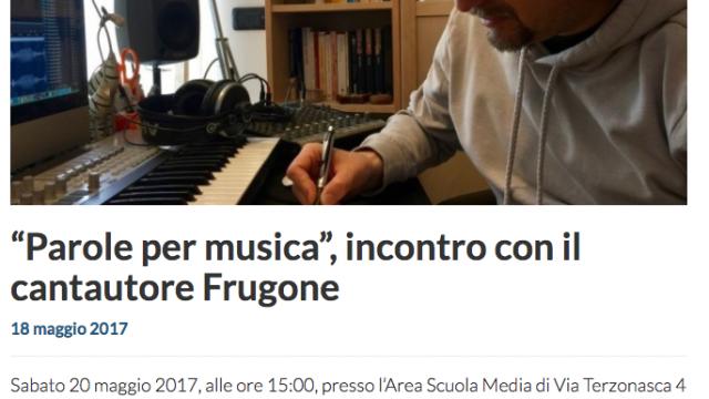 2017.05.18 TeleNord – Parole per musica, incontro con il cantautore Frugone