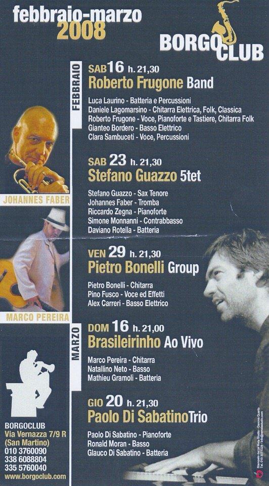 Borgo Club Genova, locandina stagione febbraio 2008