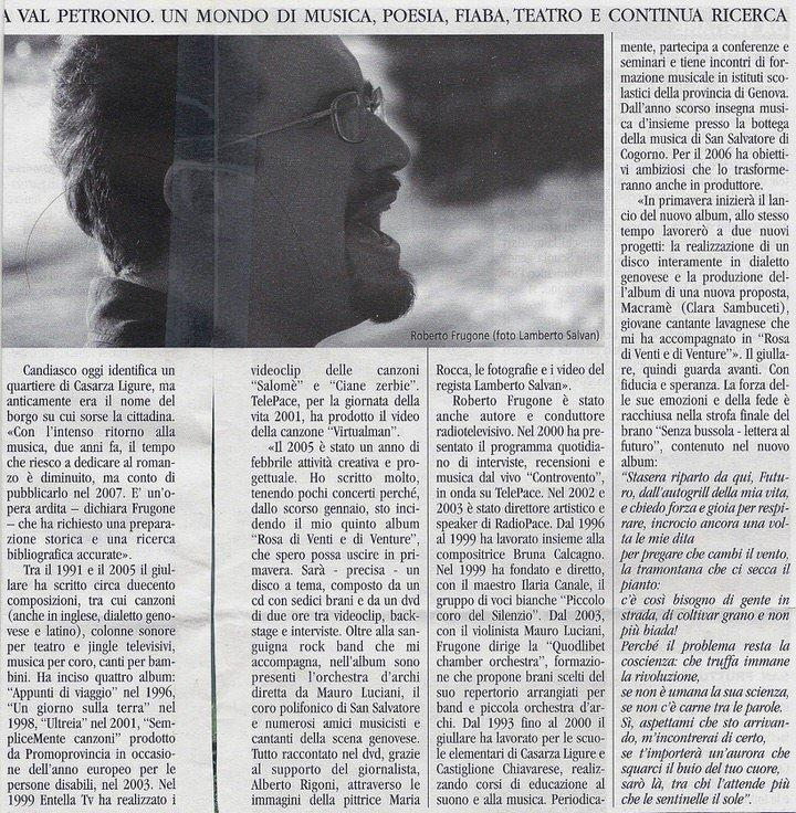 Il Golfo, gennaio 2006 – Il giullare fa rotta verso il futuro – Parte 02