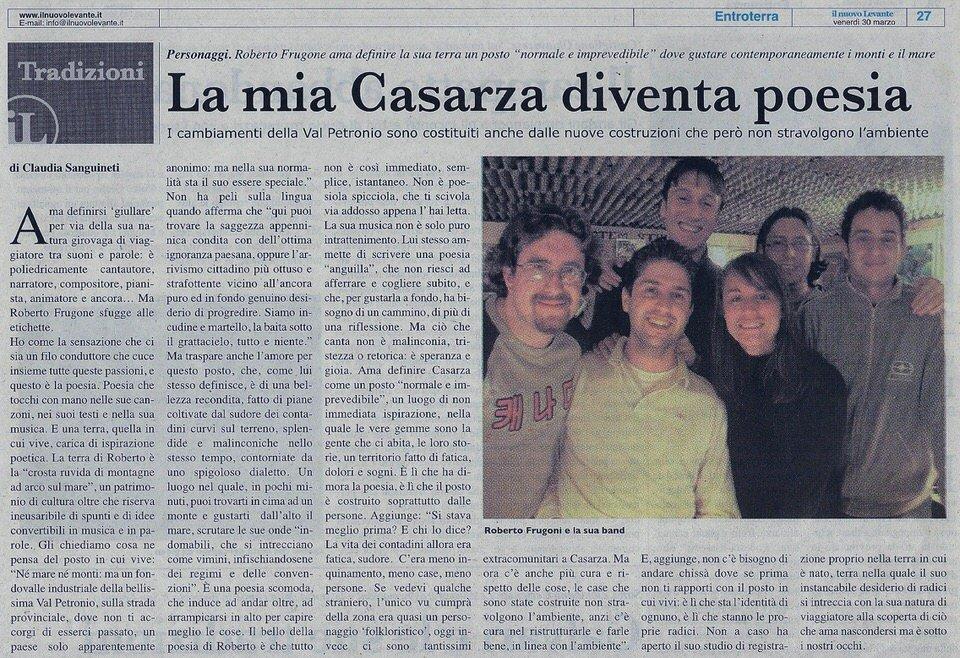 Il Nuovo Levante, 27 marzo 2007 – La mia Casarza diventa poesia