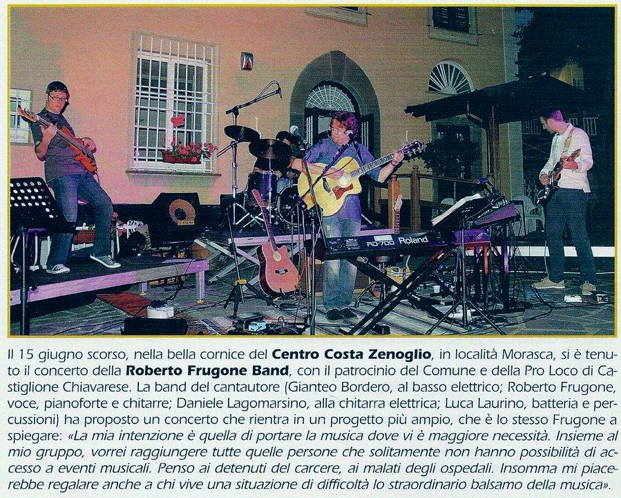 """Periodico """"Il Villaggio"""", 16 giugno 2012 – Roberto Frugone in concerto"""