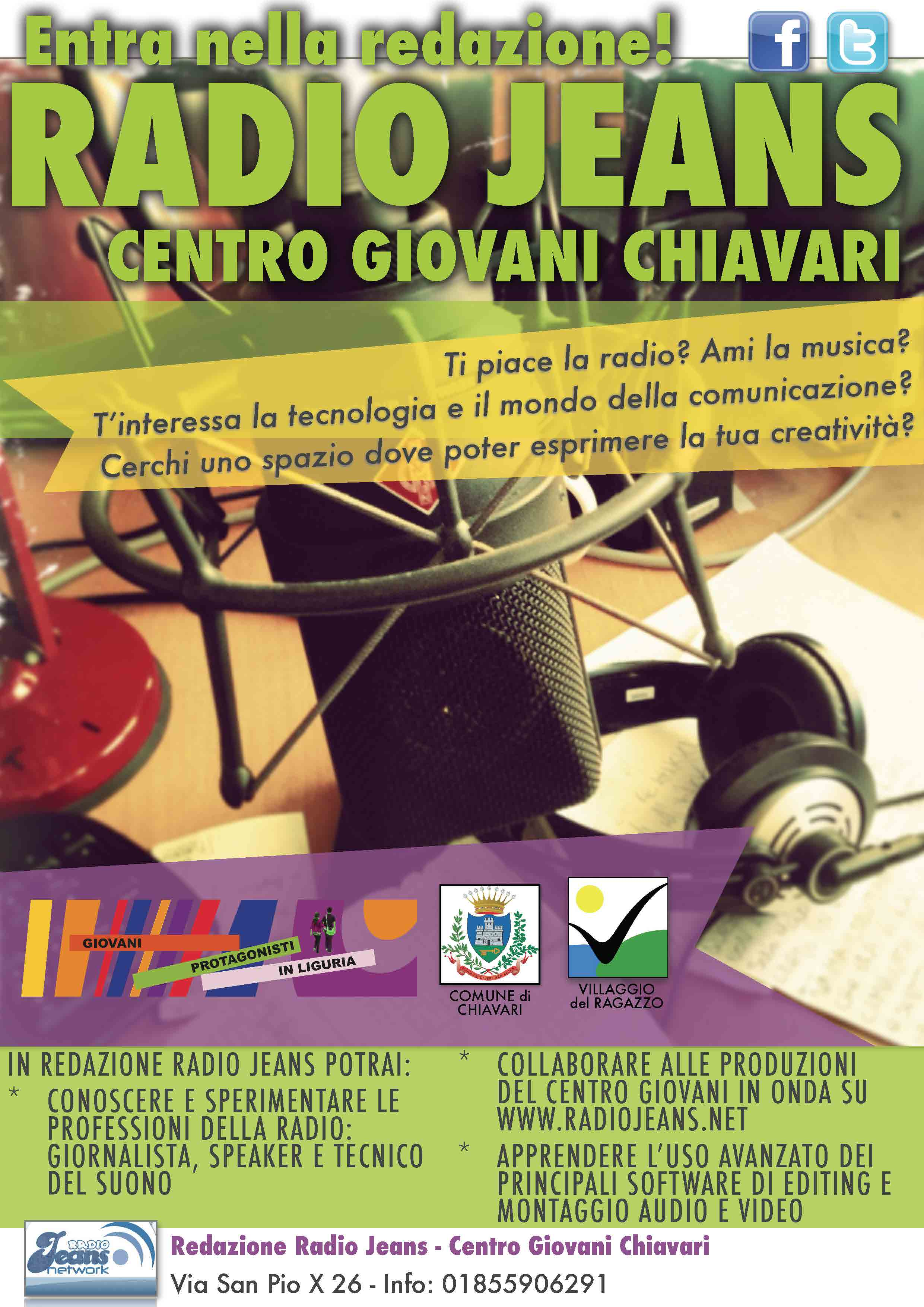 Radio Jeans - Centro Giovani Chiavari - Locandina Promo