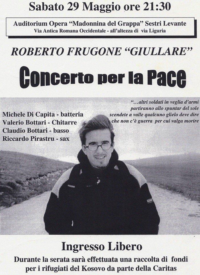 Roberto Frugone in concerto per la pace, 29 maggio 1999