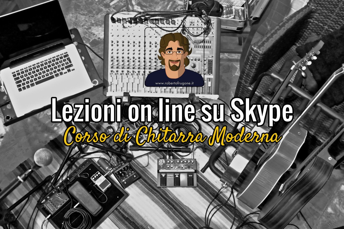 Copertina Lezioni on line su Skype Corso Chitarra