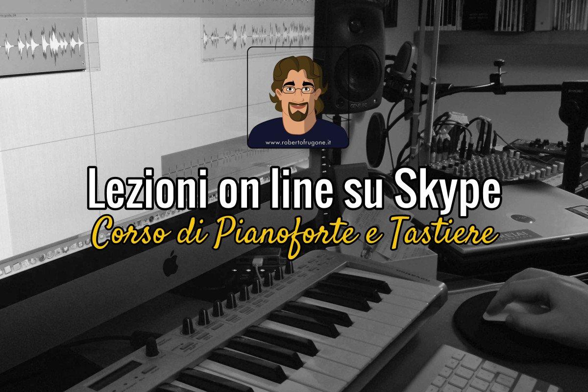 Copertina Lezioni on line su Skype Corso Pianoforte