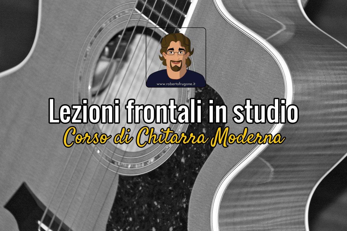 Copertina lezioni frontali in studio Corso Chitarra
