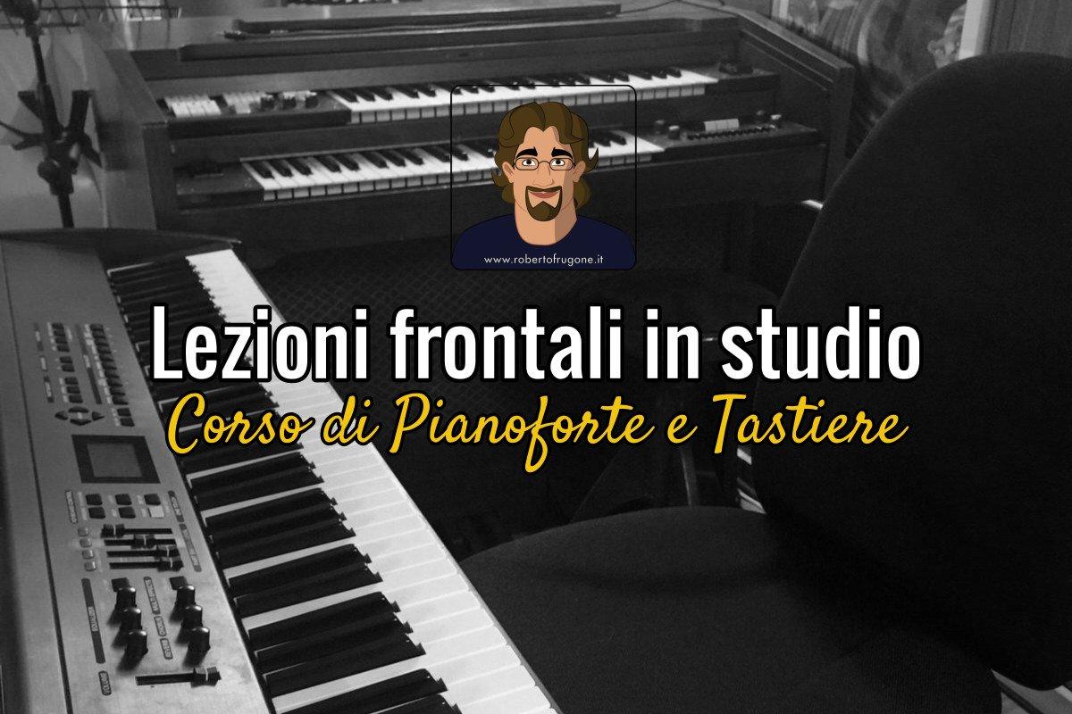 Copertina lezioni frontali in studio Corso Pianoforte