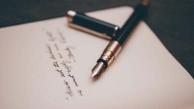 Scrittura penna stilografica