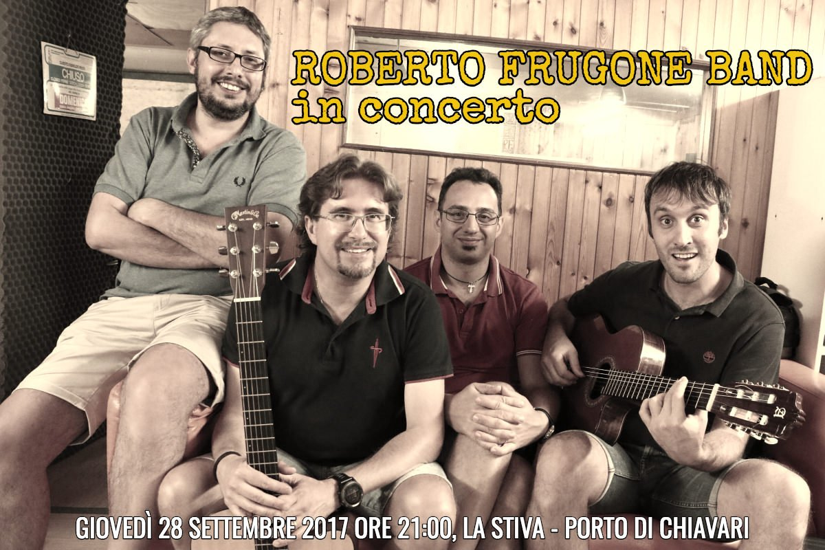 Roberto Frugone Band in concerto alla Stiva di Chiavari