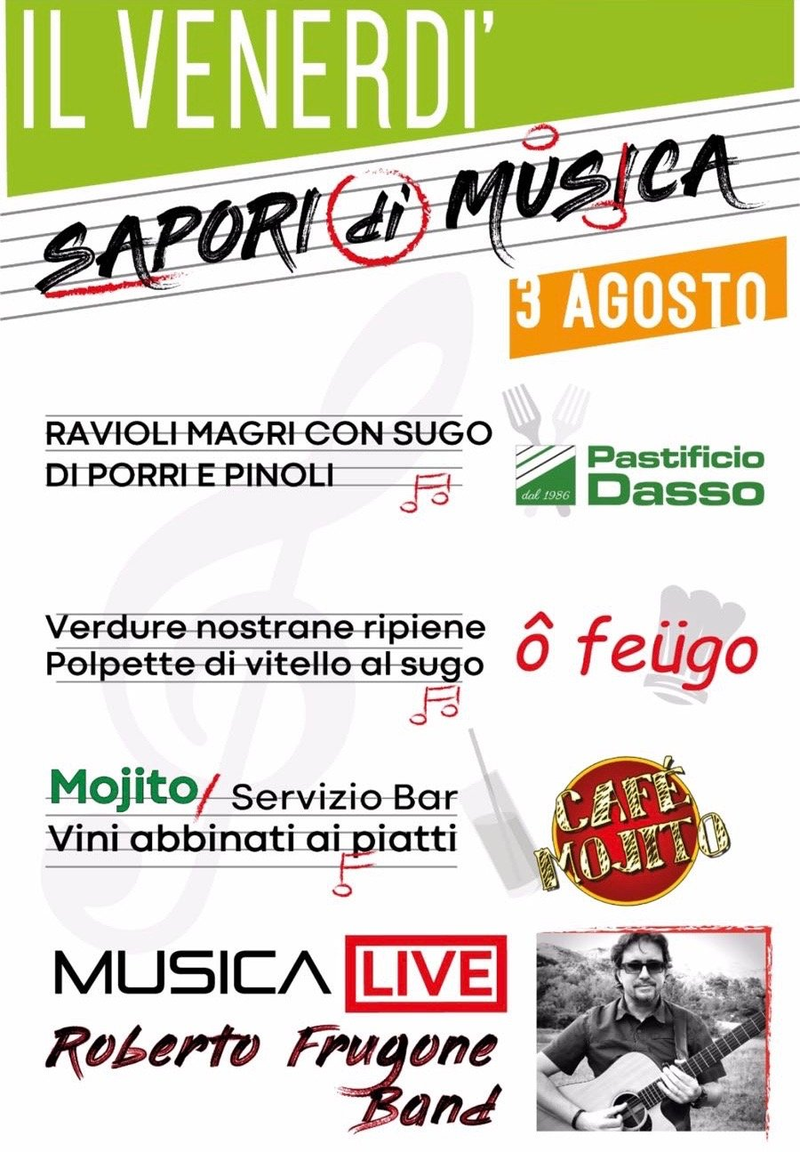 Roberto Frugone Band live a Lavagna 2018.08.03