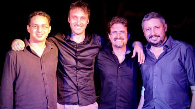 Roberto Frugone Band in concerto alla Torre medievale di Leivi 2018.08.09