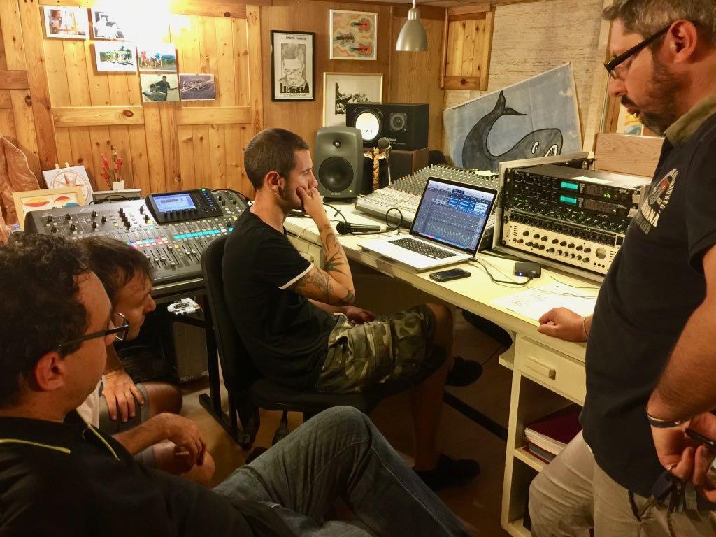 Roberto Frugone Band - Registrazione La Città di Eva al Totem Studio