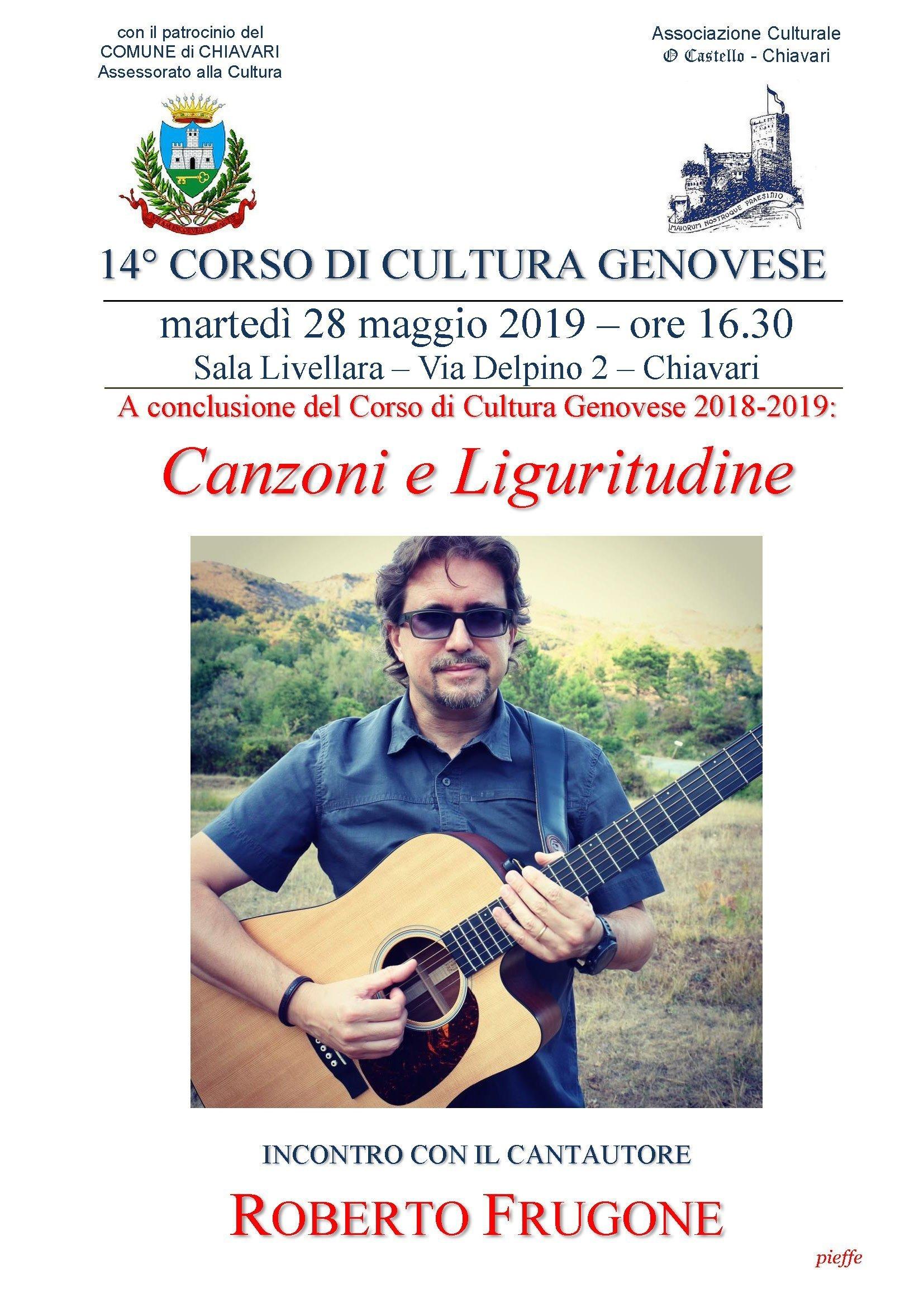 Associazione Culturale O Castello - Canzoni e Liguritudine, incontro con il cantautore Roberto Frugone